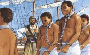 slaves led away in chains