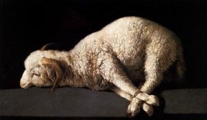 sacrificial lamb on the altar