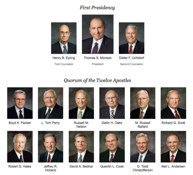 lds prophets and apostles