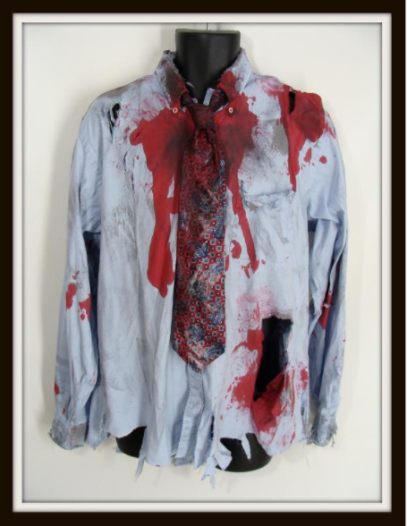 bloodstained garment