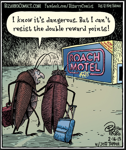 Image result for Roach motel cartoon 70