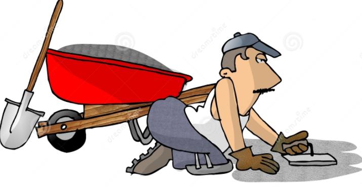 laying a sidewalk