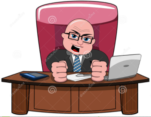 old man at desk